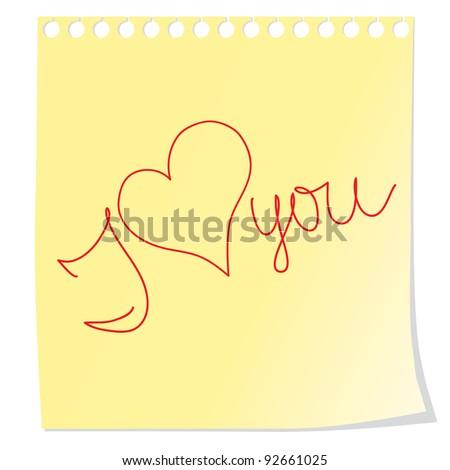 Label. Love. Vector illustration. - stock vector