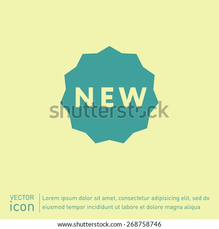 label new sign symbol of the new icon . novelty - stock vector