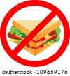 label - no sandwich - stock vector