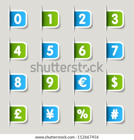 Label - Numbers - stock vector