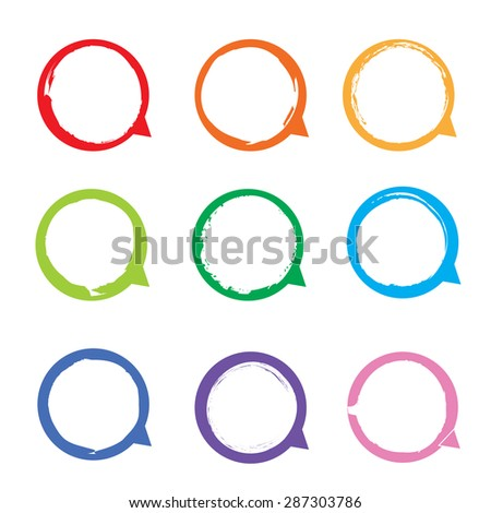 label paper brush stroke, vector design - stock vector