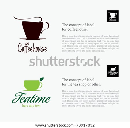 Label set for restaurant, cafe, bar, coffeehouse - stock vector