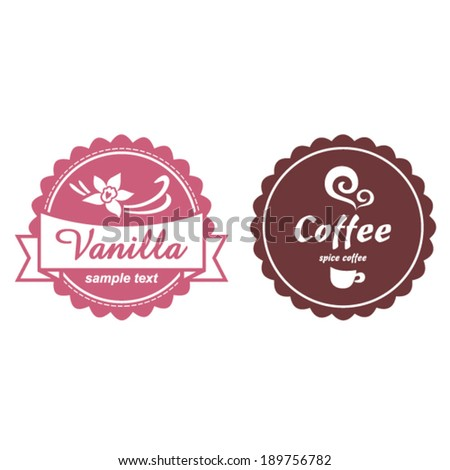 Label set for sweets-shop and cafe - stock vector