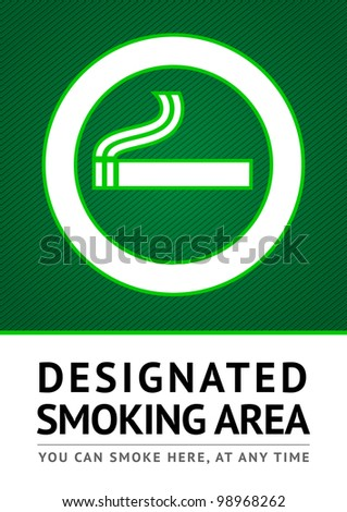 Label smoking place sticker. Vector 10eps - stock vector