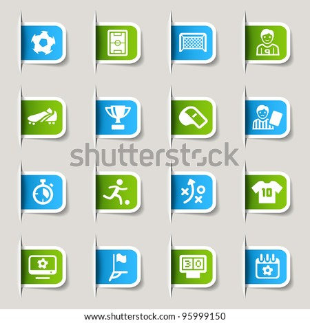 Label - Soccer Icons - stock vector