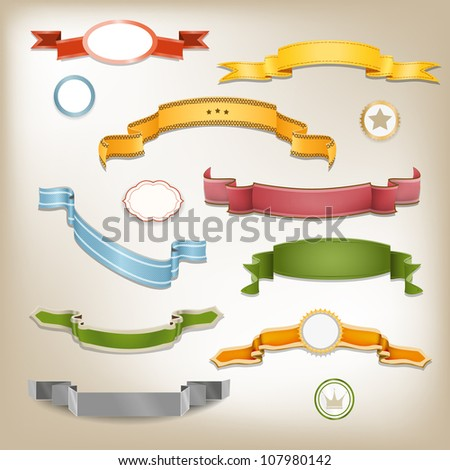 Label Tapes - stock vector