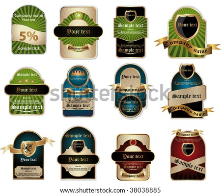 label vintage - stock vector