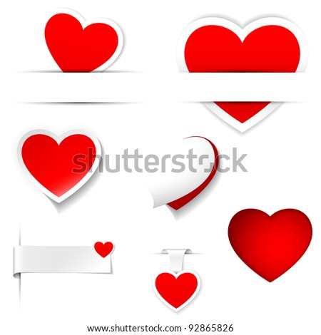 labels and stickers, heart shape