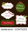 Labels Collections of Christmas - stock vector