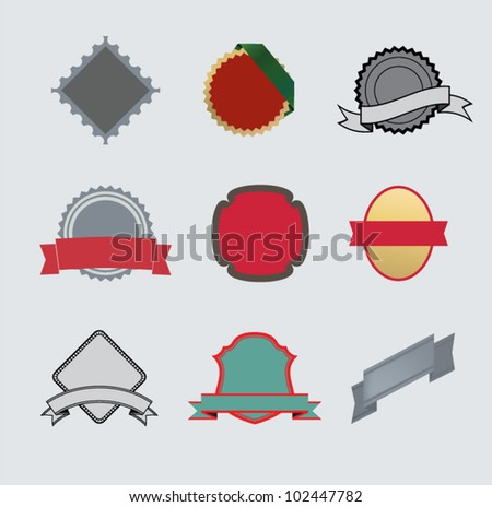 Labels color vector template. - stock vector