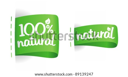 Labels for natural production. - stock vector