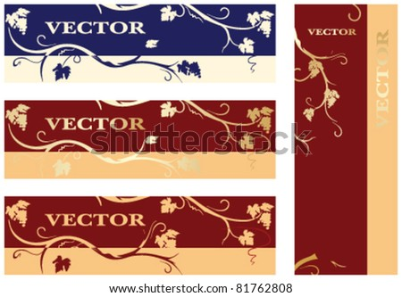 labels for wine, brandy - stock vector