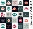 Labels In Retro Style Isolated On Backgrounds. Vector Illustration, Graphic Design Editable For Design - stock vector