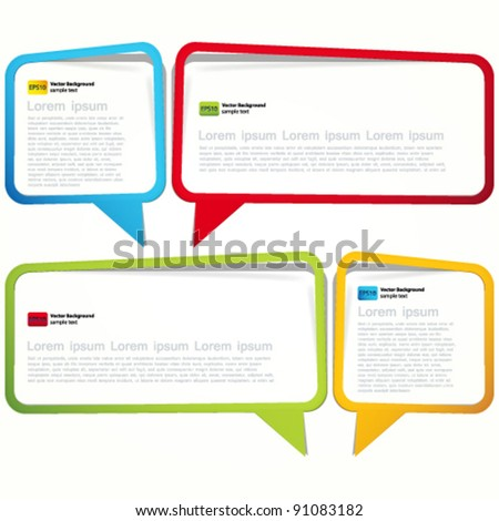 Labels in the form of an empty frame for your text. - stock vector