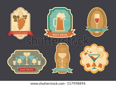 Labels of spirits - stock vector