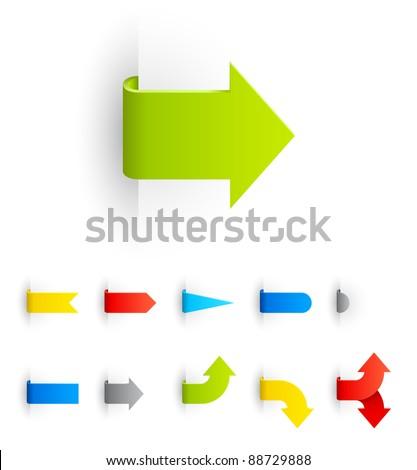 Labels Set - stock vector