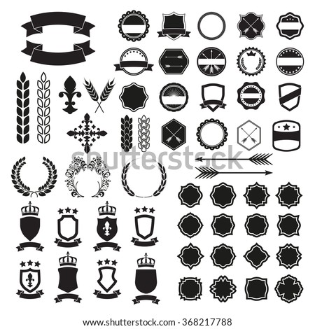 Labels set label badge templates collection stock vector royalty label and badge templates collection of retro style banners shields maxwellsz