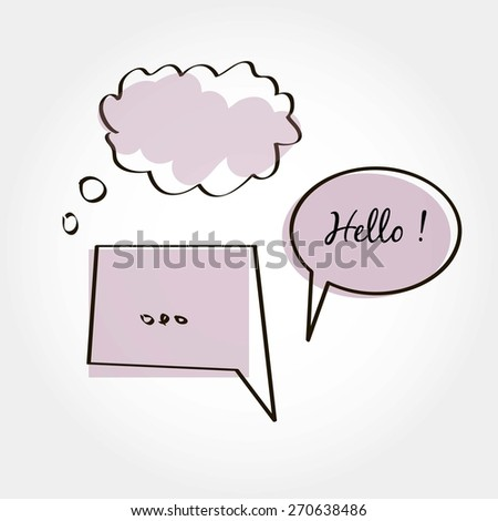Labels /Speech Set, vector illustration - stock vector