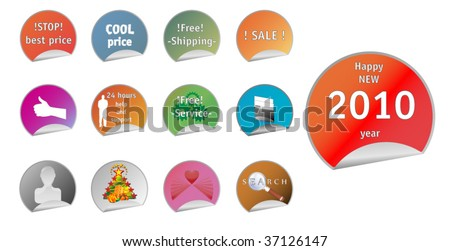 Labels With Different Message - stock vector