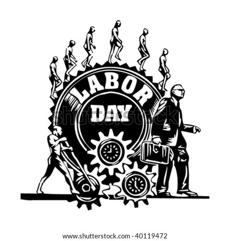 Labor Day illustration - stock vector