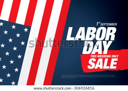 Labor day sale - stock vector