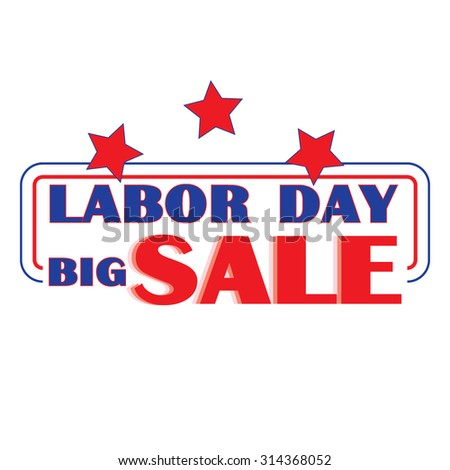 labor day sale banner or icon for shopping mall