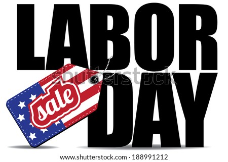 Labor Day Sale icon EPS10 vector, grouped for easy editing. No open shapes or paths. - stock vector