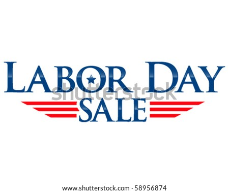 Labor day sale vector lettering - stock vector