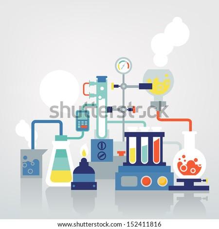 laboratory - stock vector