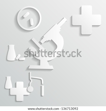 laboratory background - stock vector