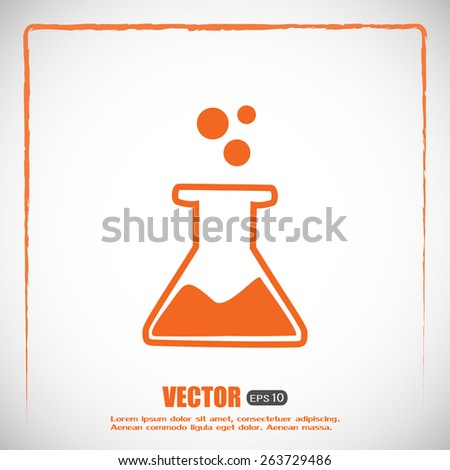 laboratory equipment icon - stock vector