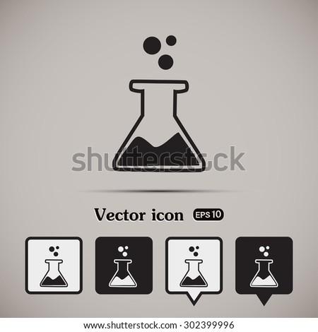 laboratory equipment icon - stock vector