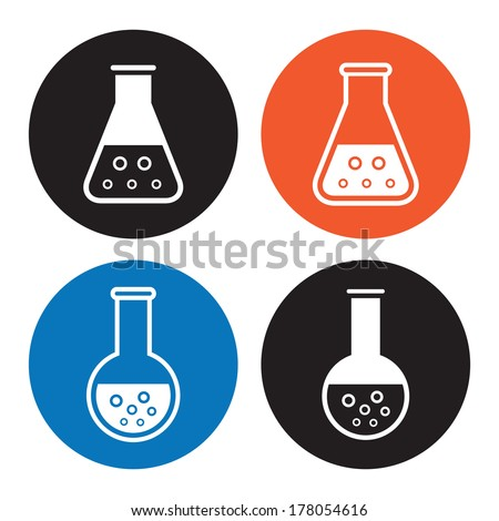 Laboratory equipment icons - stock vector