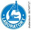 laboratory label (laboratory symbol) - stock photo