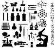 laboratory tools set - stock vector