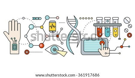 Laboratory with human DNA. Concept scientific. Research molecule, chemistry medical, biology technology, atom and gene medicine, biotechnology evolution, molecular structure, genetic spiral - stock vector