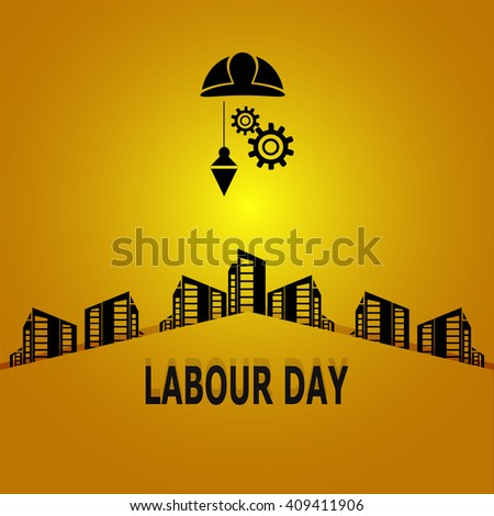 Labour day, construction concept vector illustration - stock vector