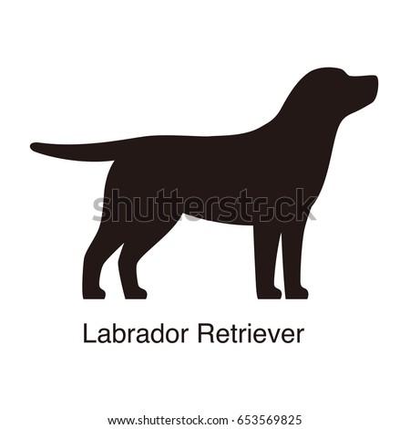 labrador retriever dog silhouette side view stock vector 653569825 shutterstock