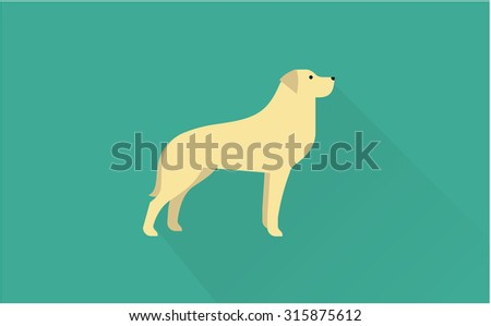 labrador retriever vector illustration - stock vector