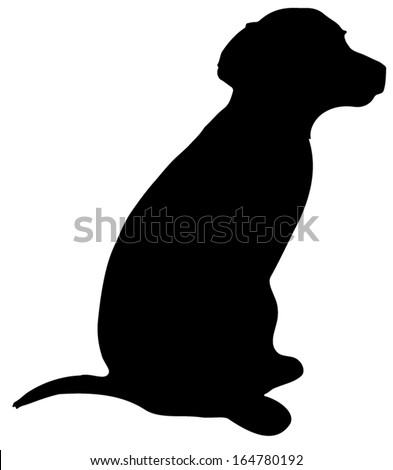 labrador shepherd mix puppy canis familiaris vector silhouette