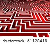 Labyrinth (also available as bitmap) - stock photo