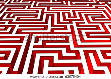 Labyrinth (also available as bitmap) - stock vector