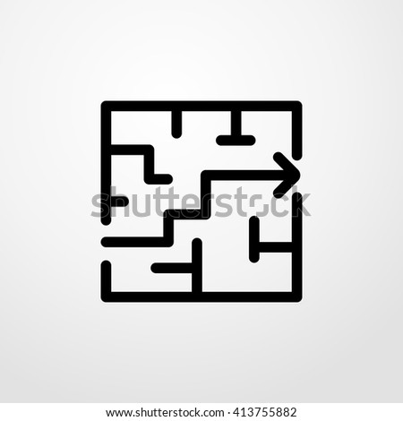 labyrinth icon. labyrinth sign - stock vector