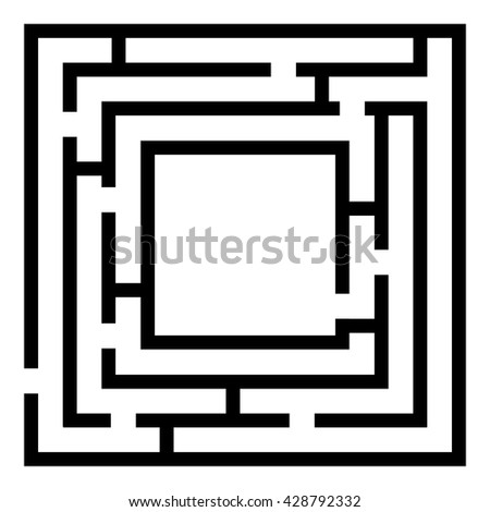 labyrinth ,Kids maze game isolated on white. Vector illustration - stock vector
