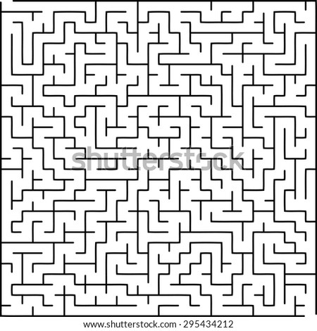 Labyrinth of medium complexity - stock vector