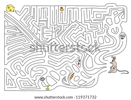 Labyrinth. Vector illustration. - stock vector