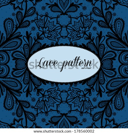 Lace background with a place for text. Lace vector design. - stock vector