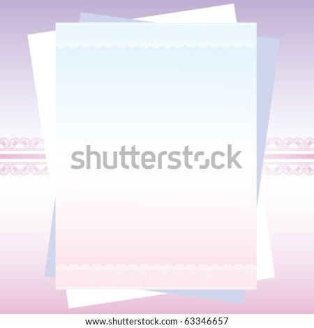 lace classical card - stock vector