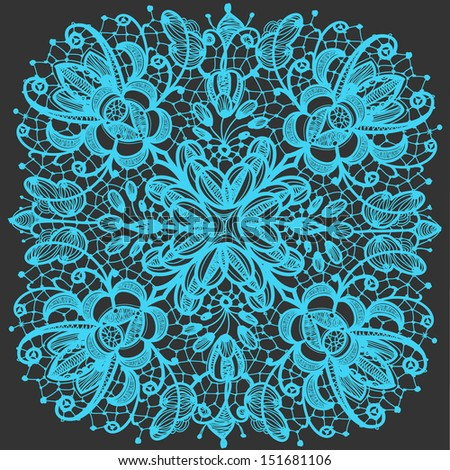 Lace doily patterns.With elements abstract flowers. Can be used for design and decorating. - stock vector
