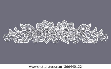 lace flowers decoration element - stock vector